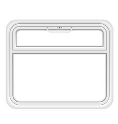 Window in the train compartment vector