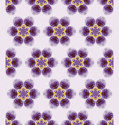 Winter snowy daisy tie dye flower stripe vector