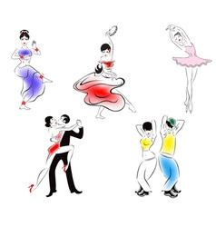 dance styles vector image