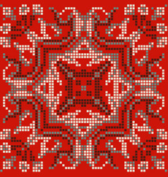 ethnic pixel pattern embroidery folk tribal vector image