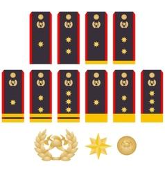 Insignia fire service vector image vector image