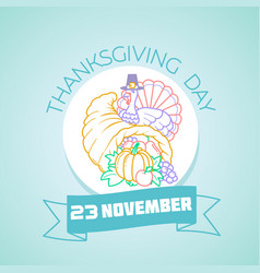 november thanksgiving day vector image vector image