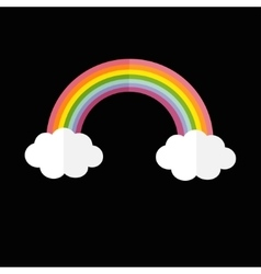 Rainbow and two white clouds LGBT sign symbol vector image
