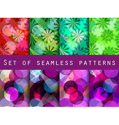 Seamless pattern of transparent geometric shapes vector image vector image