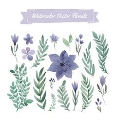 Watercolor Flowers vector image vector image