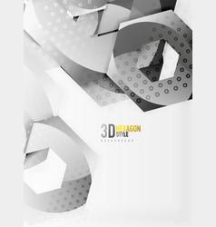 3d hexagon background vector