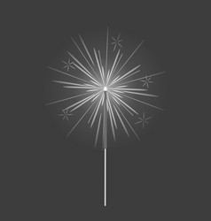 bengal light fire firework sparkler isolated vector image vector image