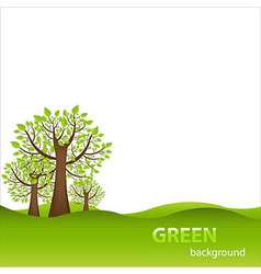 Green Background With Trees vector image vector image