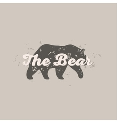 Grizzly Bear animal abstract scratched hipster vector image