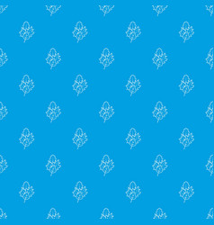 leaves pattern seamless blue vector image vector image