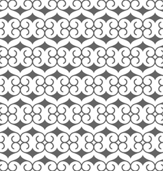 Seamless black and white pattern in arabic style vector image
