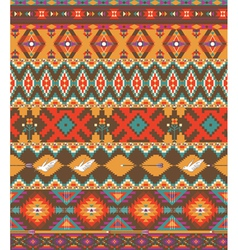 Seamless colorful aztec pattern vector image vector image