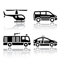 Set of transport icons - transport services vector image vector image
