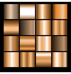 bronze gradients vector image