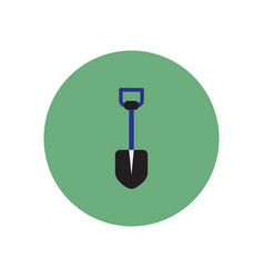 stylish icon in color circle agriculture shovel vector image vector image