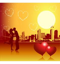 valentine day urban scene couple vector image vector image
