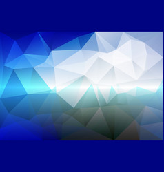 white blue shades low poly background vector image