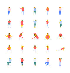 a icons pack of people in flat design vector image vector image