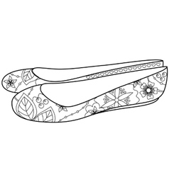 ballet shoes colorfing vector image vector image