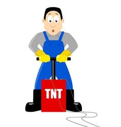 Detonating TNT vector image