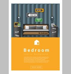 Interior design modern bedroom banner 6 vector