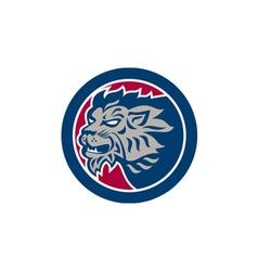 Lion Head Side Retro Circle vector image