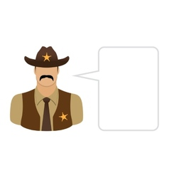 Sheriff Avatars and User Icons vector image