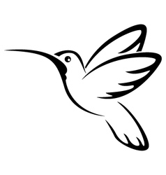 Tattoo hummingbird for you design vector image vector image