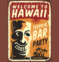 welcome to hawaii vector image vector image