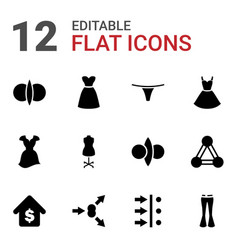 12 model icons vector