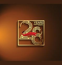28 years anniversary logotype golden color vector
