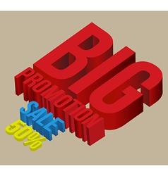 3D big promotion sale vector image
