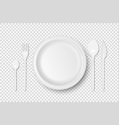 3d realistic white plastic paper vector
