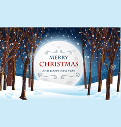 A forest christmas template vector