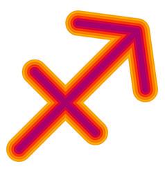 Astrological symbol of sagittarius papercut vector