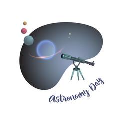 Astronomy day telescop vector