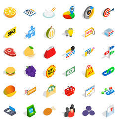 available icons set isometric style vector image