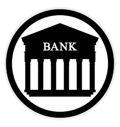 Bank button on white vector image