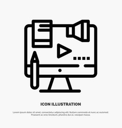 Business content copyright digital law line icon vector