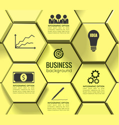 Business geometric infographic template vector
