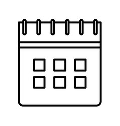 Calendar reminder date plan icon thick line vector