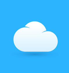cartoon logo of weather with white cloud vector image