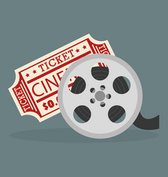 Cinema tape reel entertainment icon vector