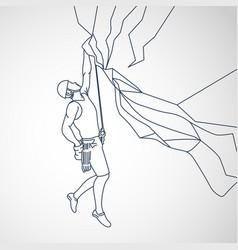 climbing logo icon vector image