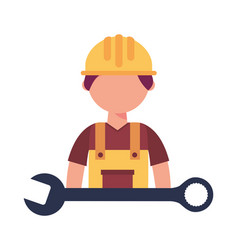 construction builder with wrench vector image