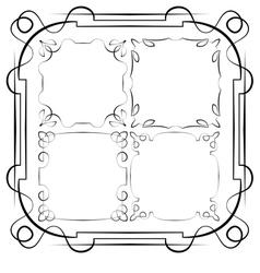 delicate frames Set vector image