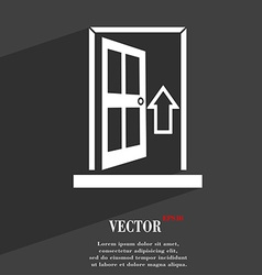 Door Enter or exit icon symbol Flat modern web vector image