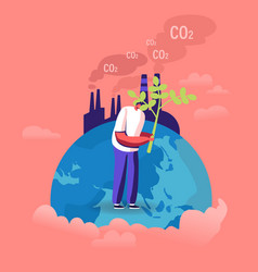 Ecological issues global warming environment vector