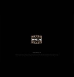 elegant luxury blank border frame badge emblem vector image