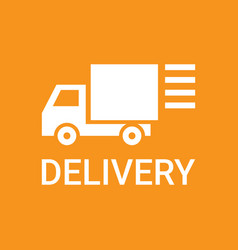 Fast delivery service truck silhouette logo vector